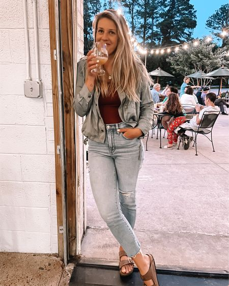 Hey Friday, good to see you again 🍻 • • Wearing small in jacket. Perfect lightweight jacket http://liketk.it/3fONR #liketkit @liketoknow.it