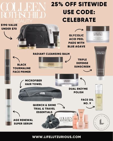 Colleen Rothschild Sale - 25% off using code CELEBRATE! Stock up on beauty favorites and skincare essentials on major sale!   #LTKbeauty #LTKsalealert