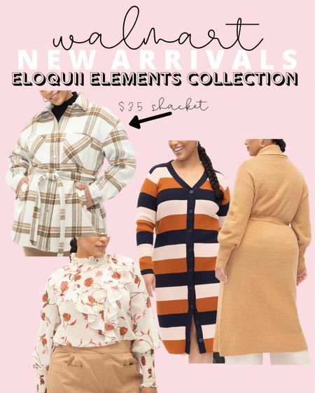Plus size fashion for fall has arrived! I love this $35 plus size shacket so much! All of these Eloquii Elements new arrivals are also Walmart finds, with nothing over $50.   #LTKcurves #LTKunder50 #LTKstyletip
