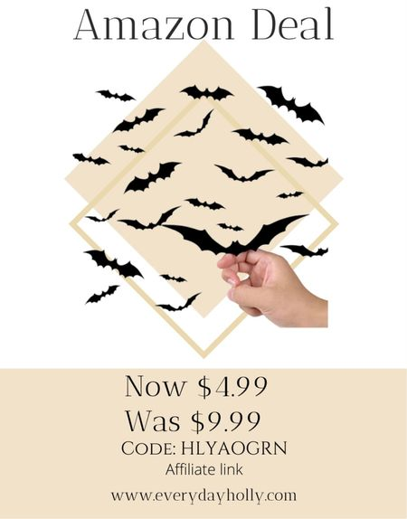 Amazon deal! 50% off 44PCS Halloween 3D Bats Decoration 2021 Upgraded, Antetek 4 Different Sizes  5 star ⭐️ reviews  Code:  HLYAOGRN   #LTKsalealert #LTKHoliday #LTKSeasonal