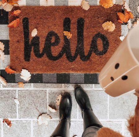 Fall Home Decor. Halloween Front Door Mats