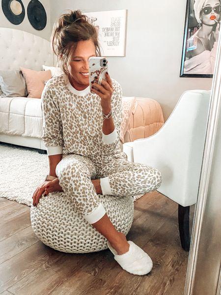 Beige leopard sweatshirt and jogger set for loungewear or for running errands. 25% off no code needed🙌🏼  Joggers, loungewear, comfy clothes, sweatshirt, graphic sweatshirt, leopard print, gift ideas for her, gifts, everyday outfit, sale, old navy outfit   #LTKsalealert #LTKstyletip #LTKunder50