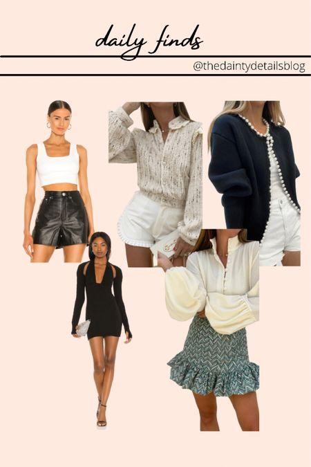 Daily finds: leather crop, little black dress, fall dresses, fall sweaters, cardigan, fall outfits   #LTKunder100 #LTKSeasonal #LTKbacktoschool