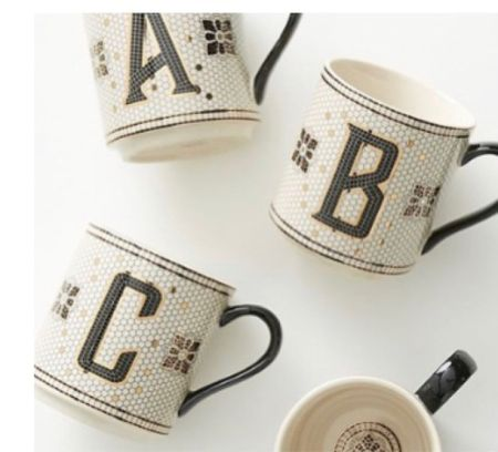 The perfect gift for anyone on your list! Coworker, teacher, secretary, girlfriend! Coffee and tea lover!  . Under $20 gift Initial mug  #LTKhome #LTKGiftGuide #LTKHoliday