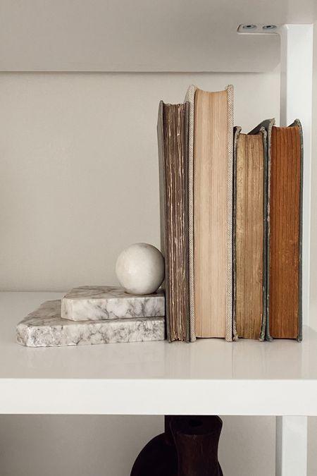 Vintage marble bookends 🤍   #LTKhome