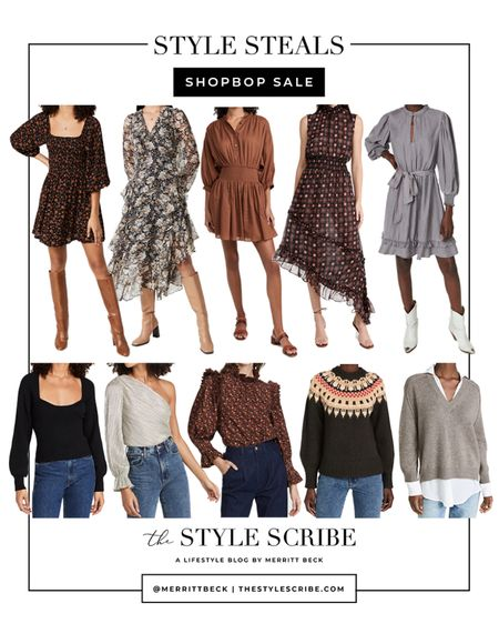 The Shopbop Sale Event ends tomorrow! Sharing some tops, sweaters, and dresses that are still available in most sizes 🙌🏼 Use code STYLE at check for a discount!   #tssedited #thestylescribe #sale #shopbop #fall #shopbopsale   #LTKsalealert #LTKSeasonal