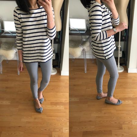 ⚓️ This striped tee is so good and it's on sale for under $10! I took size S petite for a relaxed fit. My jeans are size 25/0P but I reordered size 26/2P to compare. The gingham bow flats are true to size and so cute! @liketoknow.it http://liketk.it/2uLWz #liketkit #LTKshoecrush #LTKsalealert #LTKunder50 #LTKunder100 #LTKstyletip