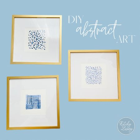 DIY Abstract Art using Target Gallery Frames 3 for $30 http://liketk.it/3e857 #liketkit @liketoknow.it  #target #targethome