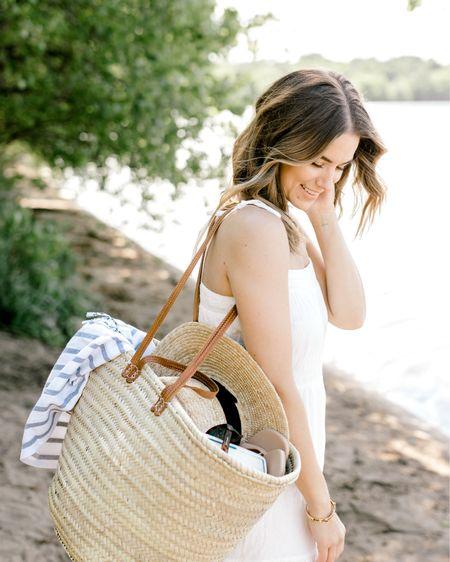 Summer essentials Beach bag straw bag Picnic blanket beach blanket  Straw hat summer hat   http://liketk.it/3gkoi @liketoknow.it #liketkit