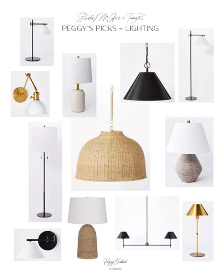 Target with Studio McGee Lighting // pendants woven rattan brass and black island pendants, table lamps, floor lamps, sconces // Peggy's Picks // Fall Collection  http://liketk.it/2WqUQ @liketoknow.it #liketkit #StayHomeWithLTK #LTKhome @liketoknow.it.home