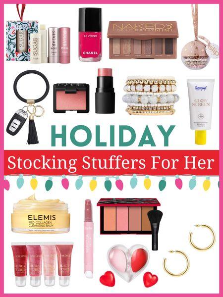 Stocking stuffers for her    Holiday Gifts - great for her and perfect as stocking stuffers         Christmas gifts , gift guide , stocking stuffers , gifts for her , #ltkbeauty Elemis , Nordstrom , Supergoop , amazon finds , tarte    #LTKunder50 #LTKGiftGuide #LTKHoliday