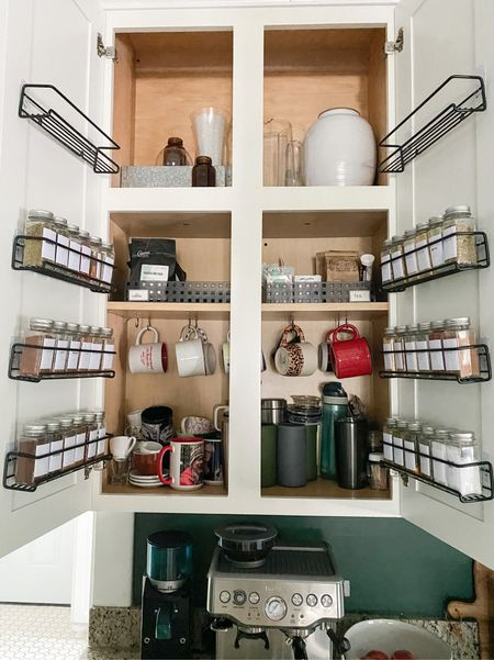 Small space? Gotta get creative with storage. These spice racks make my every day life a little prettier and much easier. And they're on sale!  #LTKunder50 #LTKsalealert #LTKhome