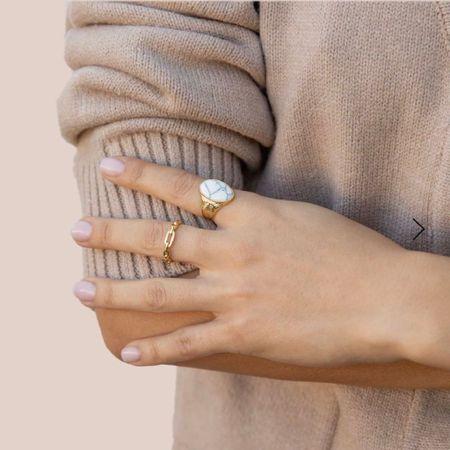 ring, jewelry, gold ring, accessories , howlite ring, metaphysical, gemstones, crystals http://liketk.it/3iIg1 #liketkit @liketoknow.it   #LTKunder100 #LTKstyletip #LTKwedding