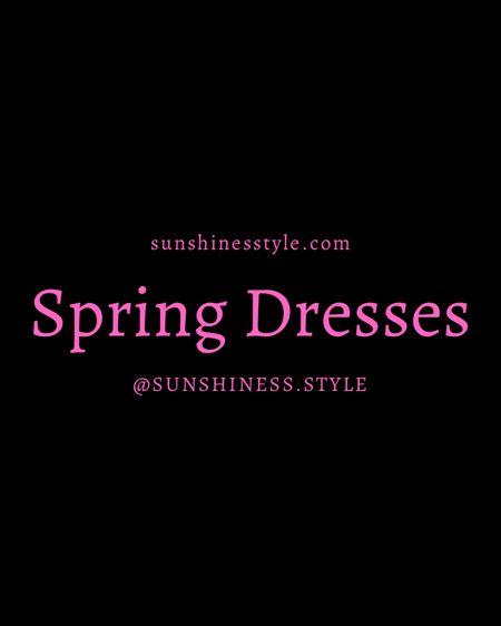 my favorite spring dresses right now! #liketkit http://liketk.it/3ea8s @liketoknow.it #LTKunder100 #LTKstyletip #LTKfit