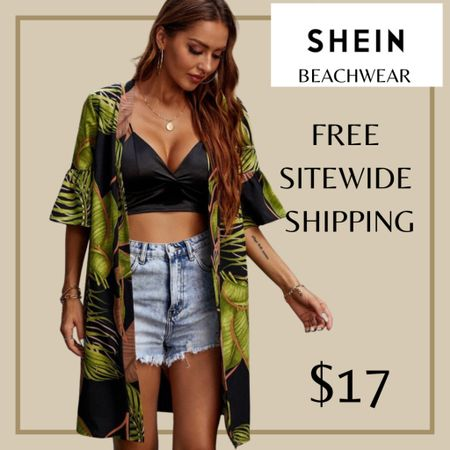 Tropical print beach swimwear cover up from Shein and free sitewide shipping today   http://liketk.it/3i0Sg #liketkit @liketoknow.it #LTKswim #LTKunder50 #LTKstyletip You can instantly shop my looks by following me on the LIKEtoKNOW.it shopping app
