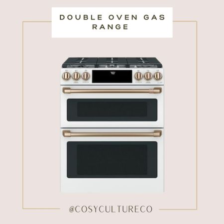 Have you ever seen an oven range more gorgeous than this one???   Double gas oven range / gold / rose gold   #LTKstyletip #LTKhome #LTKfamily