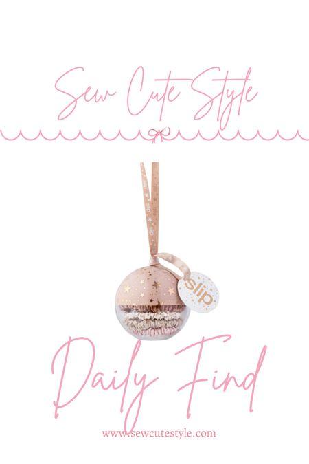 Beauty gift idea! Love this ornament with Slip silk scrunchies.   #LTKunder50 #LTKunder100 #LTKbeauty