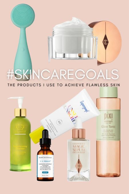 Here are some of the products I used to achieve healthy glowing skin. #SkinCaregoals  #LTKstyletip #LTKbeauty
