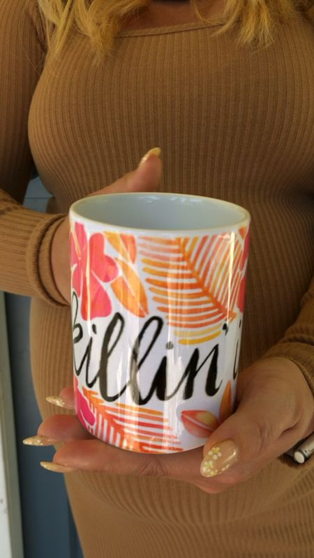 """How cute is my new coffee mug?! Love the print and the daily reminder that I'm """"Killin' It"""" at mommy hood! This would make a great Mother's Day gift btw.   I've got a code [ RBC-lauraadney ] for 15% off your purchase! Just type it in at checkout!!   #LTKhome #LTKsalealert #LTKunder50"""