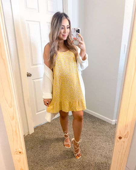 Happy First Day of Spring!  Just picked up this cute Target Dress only 15$ I paired it with these cute Strappy Sandals and this Lightweight Cardi http://liketk.it/3aXEt #liketkit @liketoknow.it