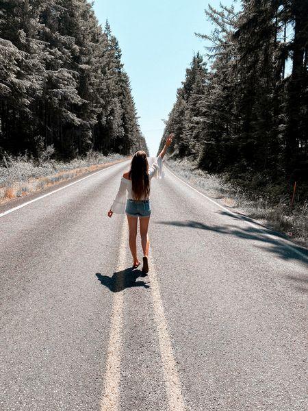Open road adventures fill my soul 🤍 neutral boho outfit linked   #LTKsalealert #LTKSeasonal #LTKstyletip