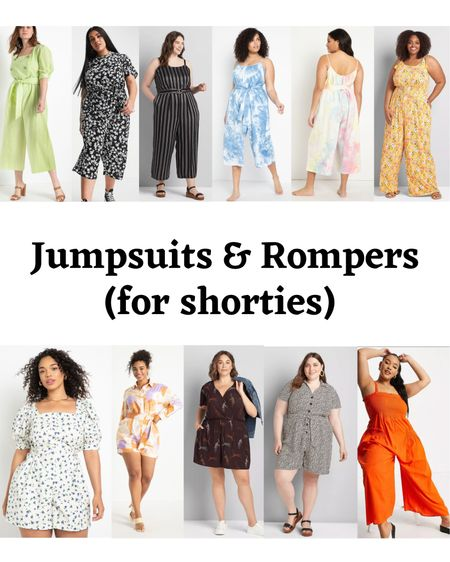 Got a request for jumpsuits for shorties. Decided to include some rompers too!  #LTKSeasonal #LTKstyletip #LTKcurves