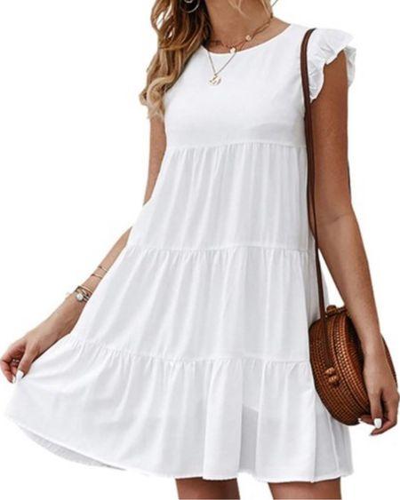 Summer dress, easy white outfit, http://liketk.it/3hK4u #liketkit @liketoknow.it #LTKunder50 #LTKstyletip #LTKtravel