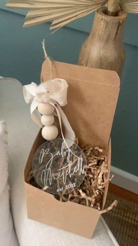 Gift idea / Baby announcement  boho baby ornament / baby announcement / personalized ornament / personalization / Christmas / Christmas ornament / Christmas Gift Idea   #LTKbaby #LTKbump #LTKGiftGuide