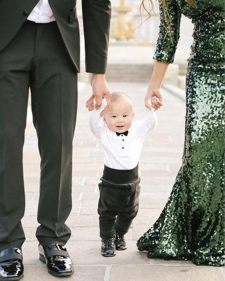 Baby #tuxedo and #holiday #family photos. http://liketk.it/2HuhW #liketkit @liketoknow.it #LTKholidaystyle #LTKbaby #LTKunder50
