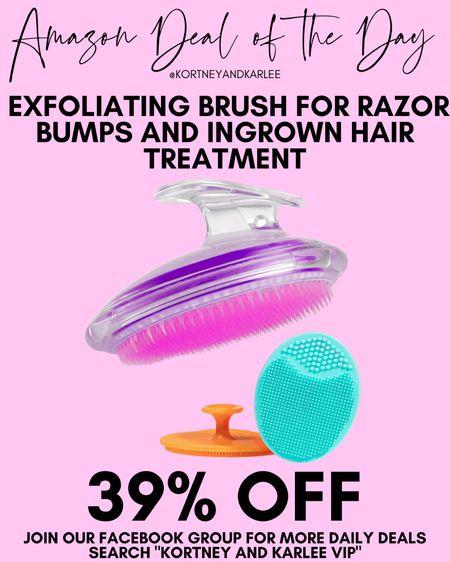 Amazon Deal of the Day!! 39% off this exfoliating brush set for razor burns or ingrown hair!   Amazon daily deal | amazon deal | amazon beauty | amazon finds | amazon favorites | amazon lightening deal | Kortney and Karlee | #kortneyandkarlee #LTKunder50 #LTKunder100 #LTKsalealert #LTKstyletip #LTKSeasonal #LTKhome @liketoknow.it #liketkit