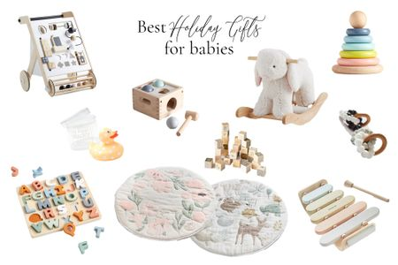 Best Holiday Gifts for Babies under One in 2020 | It can be so hard to find meaningful gifts for an infant, so I've compiled a list of my 10 favorite classic gifts for babies under a year old!   #LTKbaby #LTKfamily #LTKgiftspo