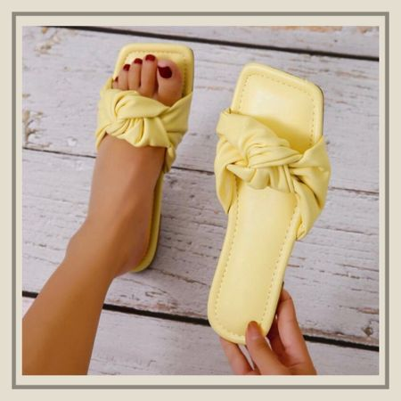 Minimalist design knot summer sandals  http://liketk.it/3idBc #liketkit @liketoknow.it #LTKshoecrush #LTKunder50 #LTKstyletip You can instantly shop my looks by following me on the LIKEtoKNOW.it shopping app