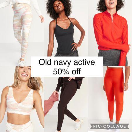 Old navy activewear 50% off today! #oldnavy #workoutclothes #fitness #workout   #LTKfit #LTKsalealert #LTKunder50