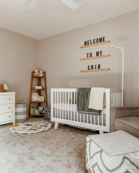 Our gender neutral nursery reveal is officially up on the blog - and here's a sneak peek 👀. I'm seriously so excited about this space. It's simple, modern, and super cozy. Head to morebymeach.com for all of the details (I can only link some of them here). 🤍  #LTKhome #LTKstyletip #LTKbaby