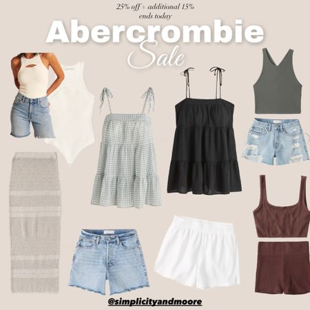 Abercrombie sale - dresses, denim shorts, two piece sets, tank http://liketk.it/3j3El #liketkit @liketoknow.it