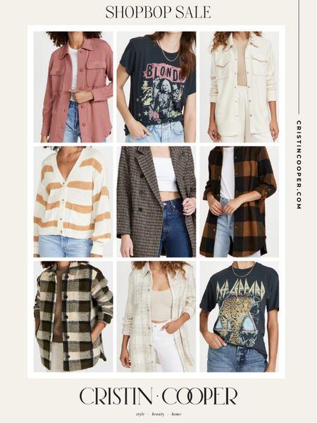 Shopbop sale // shackets and graphic tees   #LTKsalealert #LTKunder100