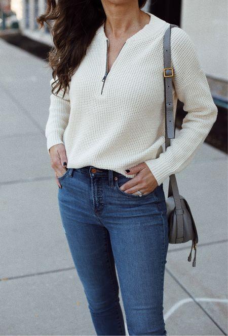 This waffle knit sweater 😍 (wearing xs. TTS)    #LTKstyletip #LTKsalealert