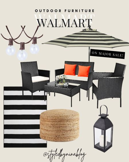 walmart deals for days sale - walmart patio - walmart furniture sale - affordable outdoor furniture - patio furniture - patio inspiration - outdoor patio design - outdoor couch - patio couch - patio furniture - home decor - outdoor rugs - washable rugs - black and white rug - black metal and glass lantern - lanterns - woven poof - patio umbrella - walmart home - walmart furniture - walmart patio - modern decor - outdoor lights - string lights - patio sofa - patio furniture set - table set - wicker chair - wicker patio set - home goods - patio umbrella - rattan furniture - walmart sale - walmart deals    #walmart #outdoorfurniture #patio #chairs #deck #porch #furniture #rugs #poofs #lights #affordable #lanterns #umbrellas #outdoor     #LTKhome #LTKsalealert #LTKfamily