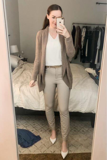 Business casual, work wear outfit, realtor outfit, real estate agent, white flats   #LTKworkwear