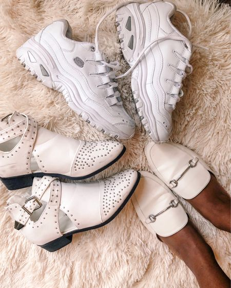 forever buying white shoes even though I suck at keep them clean 🤷🏾♀️ http://liketk.it/2DbG3 #liketkit @liketoknow.it