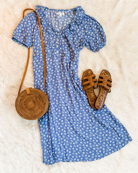 The prettiest summer dress to wear with sandals or sneakers! $36 at Walmart. Fits tts. Comes in four prints but I'm partial to this blue 💙💙 I'll link in Stories. http://liketk.it/3hq8q #liketkit @liketoknow.it #walmartfashion #freeassembly @walmartfashion #LTKunder50