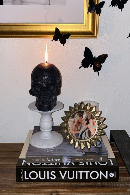 BEST SELLER — My spooky skull candle I incorporated into our Halloween decorations this year   #LTKunder100 #LTKstyletip #LTKunder50