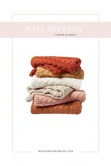 Fall refresh - fall throw blanket from target! Great price and beautiful fall colors 🥰  #LTKSeasonal #LTKunder50 #LTKhome