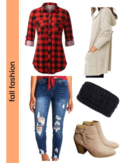 Check out this affordable fall fashion for moms! You can go wrong with Buffalo check, booties, and a comfy cardigan. Be trendy with comfort! #fallfashion #momfashion http://liketk.it/2YeLC #liketkit @liketoknow.it #LTKstyletip #LTKshoecrush #LTKunder50 Shop your screenshot of this pic with the LIKEtoKNOW.it shopping app
