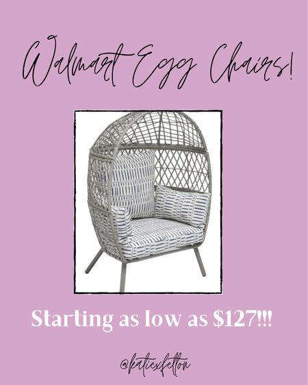 So many Walmart egg chairs! Starting as low as $130!!! http://liketk.it/3epEz @liketoknow.it.home #liketkit #LTKhome #LTKsalealert @liketoknow.it @liketoknow.it.family Download the LIKEtoKNOW.it shopping app to shop this pic via screenshot Follow me on the LIKEtoKNOW.it shopping app to get the product details for this look and others.