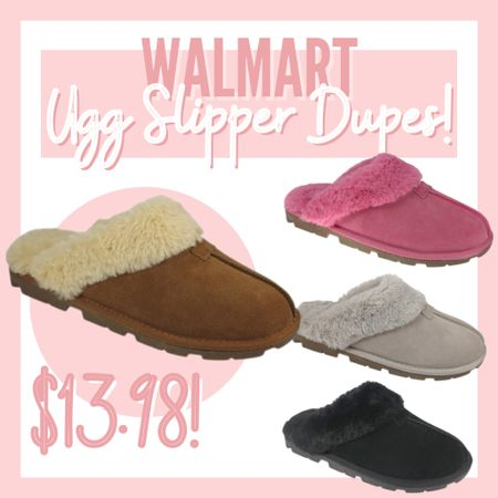 These #walmartfashion slippers are AMAZING. #ad They look so similar to a high end brand, without the crazy high end price tag! They even have memory foam! #walmartfashion #slippers   #LTKGiftGuide #LTKshoecrush #LTKunder50