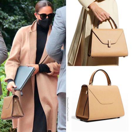 Meghan's new Valextra handbag #purse #tophandle #bag #ootd #new #itbag     #LTKitbag