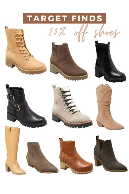 Target finds! All of their boots and fall shoes are 20% off right now!  #LTKunder50 #LTKsalealert #LTKshoecrush