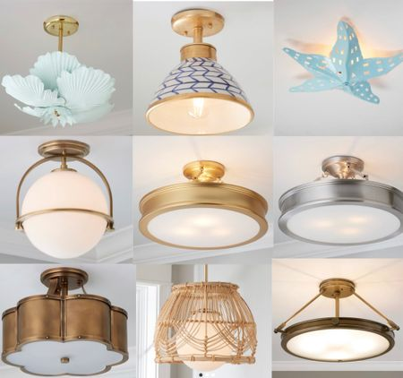 Here are some unique, designer inspired flush mount lights & pendants  with a moderate price tag but are really high end looking. #LTKhome