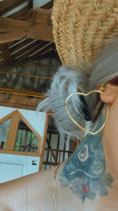 heart hoops ❣️ #earrings